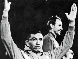 José Pedraza en el podium de los JJOO México 1968