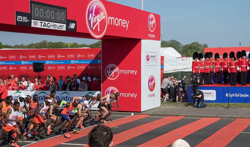 Arco de salida del Maratón de Londres